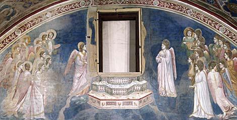 Giotto agli scrovegni - Su di esso si esce da una porta finestra ...